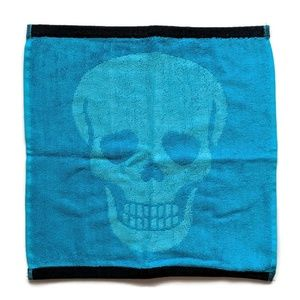 Betsey Johnson Aqua Blue Skeletor Washcloth